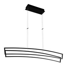 """Sirius  46"""" Integrated LED Linear Chandelier, Black"""
