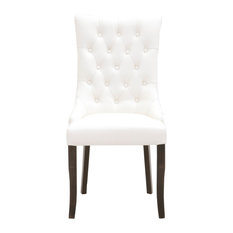 Amelia Dining Chair, Snow Top Grain Leather, Set of 2