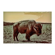 American Buffalo Fine Art Poster Print, 24 X 31.5