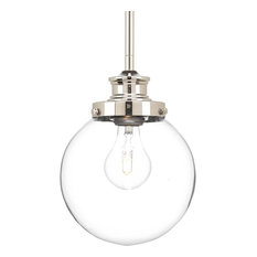 Penn 1-Light Pendant Polished Nickel Clear Glass