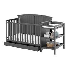Storkcraft Steveston 3 Piece Convertible Crib Set in Gray