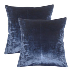 Jasper Solid Throw Pillows, Blue, Set of 2
