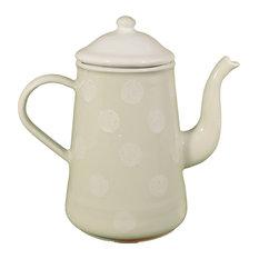 Linen Ceramic Coffee Pot