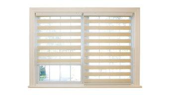 "Premium Wood Look Duo Roller Window Shade, Mushroom, 24"""