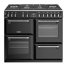 Richmond Deluxe S1000DFGtg 100 cm Dual Fuel Range Cooker, Black