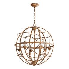 Quorum International 6216-6 Salento 6 Light 1 Tier Globe Chandelier
