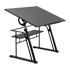 Zenith Drafting Table, Black