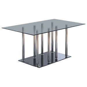 450f818488b69 Global Furniture USA 1058DT Rectangular Black Glass Dining Table ...