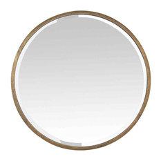 EMDE Gold Rimmed Round Mirror