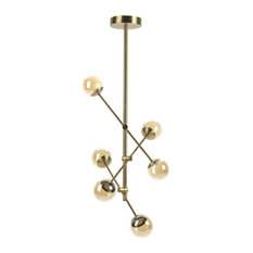 Pronto 6-Light Chandelier, Brass