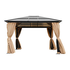 Outdoor 10'x12' Gazebo Tent Hardtop Aluminum Poles with Panels