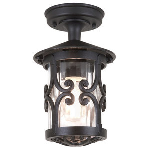 Traditional Small Tube Outdoor Porch Ceiling Lantern