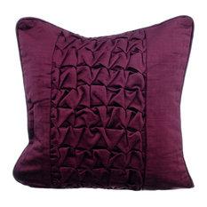 Purple Decorative Cushion Cover, Velvet, Plum, 35x35 cm