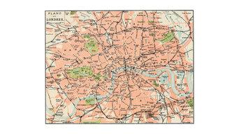 """London City Vintage Map"" Fine Art Print, 45x30 cm"