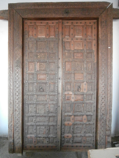 Really old spanish handcarved front doors with frame
