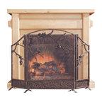 Pinecone Fireplace Screen