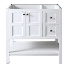 White Bathroom Vanities 36 Inch bathroom vanity bases | houzz