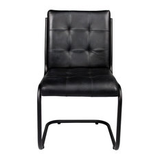 Alison Ebony Side Chair With Iron Frame