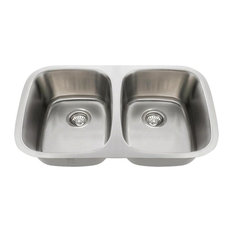 Equal Double Bowl Stainless Steel Sink, 16-Gauge, Sink Only
