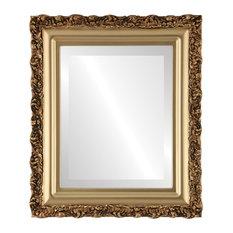 "Venice Framed Rectangle Mirror in Gold Spray, 29""x41"""