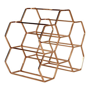 Pico 6 Stackable Wine Rack, Copper