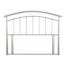 Headboard in Silver Finished Solid Metal, Double Size Contemporary Design