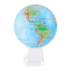 """MOVA 8.5"""" Blue Ocean Relief Map Revolving Globe With Large Crystal Base"""