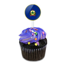 Vermont State Flag Cupcake Toppers Picks Set
