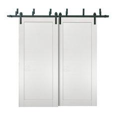 Barn Bypass Doors 60 x 80 & 6.6ft Hardware | Quadro 4111 White Ash | Rails Set
