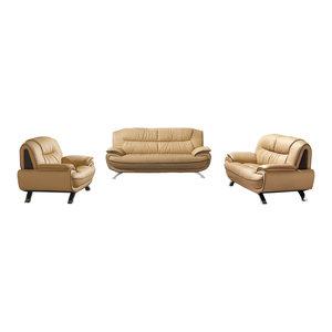 Living Room Set. Cappuccino, 3-Piece Set