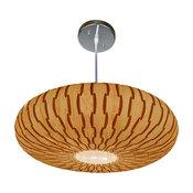 Wooden Disc Pendant Lamp