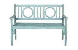 Safavieh Piedmont Outdoor Folding Bench, Beach House Blue