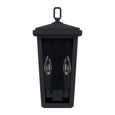 Capital Lighting Donnelly 2-Light Outdoor Wall Lantern 926221BK, Black