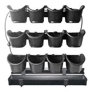 Nature Vertical Garden Planter Start Set, Black, 60x60 cm