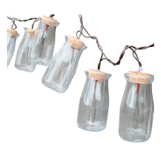 Milk Bottle String Lights, 10 Count