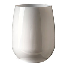 Stemless Wine Glass, Set of 4, White, 12 oz.