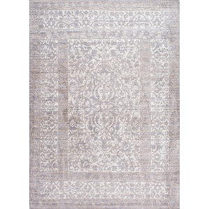Machine Made Traditional Vintage Persian Border Rug, Gray, 9'x12'