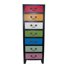 Tall Cabinet With 7-Drawer, Rainbow