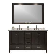 "Cambridge Double Sink Vanity Set, 61"""