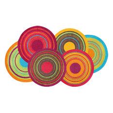 Cosmic Colours Door Mat, Multicoloured, 120x70 cm