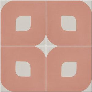 Eye Pattern Tiles, Salmon, Set of 12