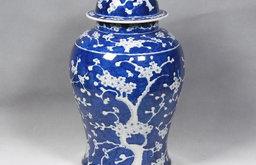 Blue & White Plum Tree Jar
