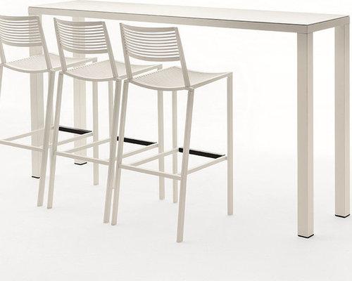 New Easy Barbord 110x200x45cm,Vit - Udendørs caféborde