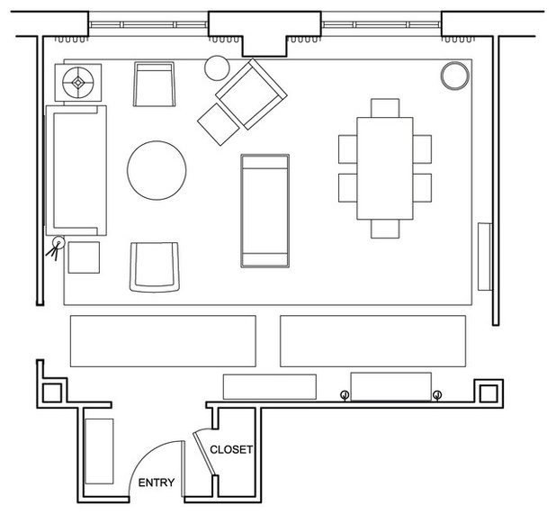 Room of the Day: Laying Out a Large Space