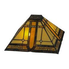 Meyda Lighting Tiffany 137957 13 Square Sierra Prairie Mission Shade Lamp Shades