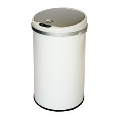 itouchless 8 gallon round deodorizer white sensor can trash cans. Interior Design Ideas. Home Design Ideas