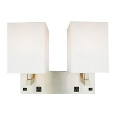 image plug vanity lights diy vanity quoizel brushed nickel light wall sconce with outlets and on off switch vanity lights houzz