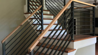 Modern Staircase and Iron Railing