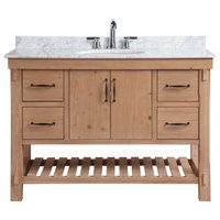 "Marina 48"" Bathroom Vanity, Driftwood Finish"