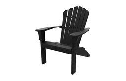 Harbor View Adirondack Chair, Black